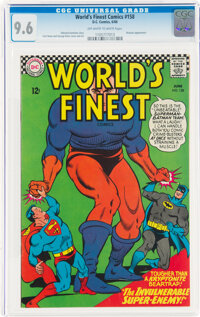 World's Finest Comics #158 (DC, 1966) CGC NM+ 9.6 Off-white to white pages