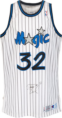 1993-94 Shaquille O'Neal Game Worn Orlando Magic Jersey with Equipment Manager Provenance
