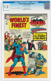 World's Finest Comics #163 (DC, 1966) CGC NM/MT 9.8 Off-white to white pages