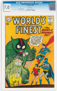 World's Finest Comics #112 (DC, 1960) CGC FN/VF 7.0 White pages