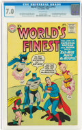 Silver Age (1956-1969):Superhero, World's Finest Comics #113 (DC, 1960) CGC FN/VF 7.0 Off-white pages....