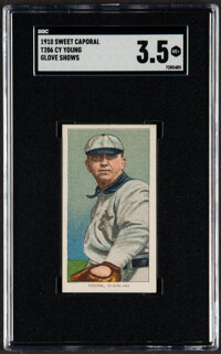 1909-11 T206 Sweet Caporal Cy Young (Glove Shows) SGC VG+ 3.5