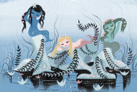 Mary Blair Peter Pan Mermaids Concept/Color Key Painting (Walt Disney, 1953)