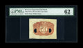 Fractional Currency:Second Issue, Second Issue 50¢ Negative Essay Experimental Back PMG Uncirculated 62....