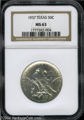 Commemorative Silver: , 1937 Texas MS63 NGC. ...