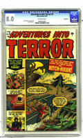 Golden Age (1938-1955):Horror, Adventures Into Terror #5 Bethlehem pedigree (Atlas, 1951) CGC VF8.0 Off-white pages. Gene Colan, Russ Heath, and Don Rico ...