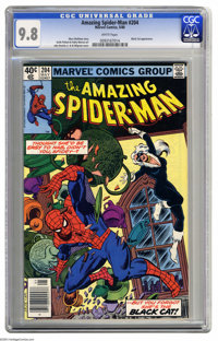 The Amazing Spider-Man #204 (Marvel, 1980) CGC NM/MT 9.8 White pages. Black Cat appearance. John Romita Jr. and Al Milgr...