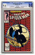 Modern Age (1980-Present):Superhero, The Amazing Spider-Man #300 (Marvel, 1988) CGC NM+ 9.6 White pages.Origin and first full appearance of Venom. Last black co...