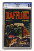 Golden Age (1938-1955):Horror, Baffling Mysteries #10 Bethlehem pedigree (Ace, 1952) CGC FN/VF 7.0Off-white pages. Lou Cameron art. A certificate of authe...
