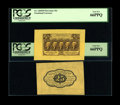 Fractional Currency:First Issue, Fr. 1282SP 25¢ First Issue Wide Margin Pair PCGS Gem New 66PPQ....(Total: 2 notes)