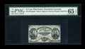 Fractional Currency:Third Issue, Fr. 1275SP 15c Third Issue Narrow Margin Face PMG Gem Uncirculated 65 EPQ....