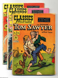Golden Age (1938-1955):Classics Illustrated, Classics Illustrated Group (Gilberton, 1951-56) Condition: AverageGD/VG. This group includes #50 (FR condition, Tom Sawyer,...(Total: 6 Comic Books Item)