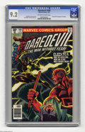 Modern Age (1980-Present):Superhero, Daredevil #168 (Marvel, 1981) CGC NM- 9.2 Off-white to white pages.Origin and first appearance of Elektra. Frank Miller cov...