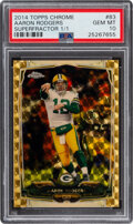 Football Cards:Singles (1970-Now), 2014 Topps Chrome Aaron Rodgers (Superfractor) #83 PSA Gem Mint 10 - #'d 1/1! ...