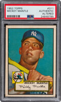 Baseball Cards:Singles (1950-1959), 1952 Topps Mickey Mantle #311 PSA Authentic/Altered....