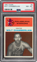 Basketball Cards:Singles (Pre-1970), 1961 Fleer Wilt Chamberlain #8 PSA NM-MT 8....