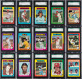 Baseball Cards:Lots, 1975 Topps Baseball PSA and SGC Graded Collection (201). ...