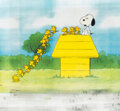 Animation Art:Production Cel, Peanuts The Charlie Brown and Snoopy Show Snoopy and Woodstock Production Cels and Animation Drawings Group of 12 ... (Total: 12 Items)