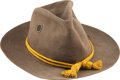 Military & Patriotic:Indian Wars, Indian Wars/Spanish American War [SAW]: Tan Hat with Screen Vents.. ...
