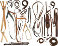 Military & Patriotic:Indian Wars, U.S. Cavalry: Assorted Leather Bands, Straps, Etc.. ... (Total: 2 Items)