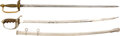 Edged Weapons:Swords, Pair of US Swords, one engraved with Soldiers name.. ... (Total: 2 Items)