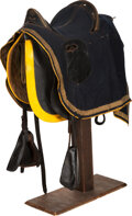 Military & Patriotic:Indian Wars, Saddle with Tooled Leather Padded Seat.. ...