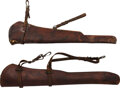 Edged Weapons:Swords, Two Marked RIA & B Bros. Scabbards.. ... (Total: 2 Items)