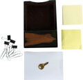 Movie/TV Memorabilia:Props, Charles' Sticky Notes, Paper Clips and Key in Brown Holder....