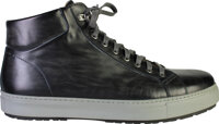 Spencer's Black and Grey Lace Up Custom MAGNANNI High Top Sneakers