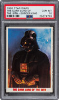 """Non-Sport Cards:Singles (Post-1950), 1980 Star Wars Burger King """"The Dark Lord of the Sith"""" PSA Gem Mint 10...."""