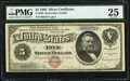 Large Size:Silver Certificates, Fr. 259 $5 1886 Silver Certificate PMG Very Fine 25.. ...
