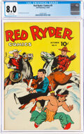 Golden Age (1938-1955):Adventure, Red Ryder Comics #9 (Dell, 1942) CGC VF 8.0 Off-white pages....