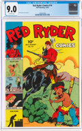 Golden Age (1938-1955):Western, Red Ryder Comics #14 (Dell, 1943) CGC VF/NM 9.0 Off-white pages....