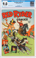 Golden Age (1938-1955):Western, Red Ryder Comics #18 (Dell, 1944) CGC VF/NM 9.0 Off-white pages....