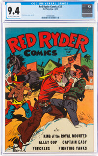 Red Ryder Comics #25 (Dell, 1945) CGC NM 9.4 Off-white to white pages