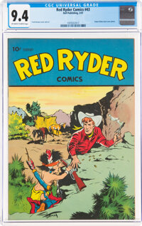 Red Ryder Comics #43 (Dell, 1947) CGC NM 9.4 Off-white to white pages