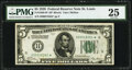 Small Size:Federal Reserve Notes, Fr. 1950-H* $5 1928 Federal Reserve Note. PMG Very Fine 25.. ...