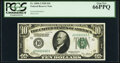 Fancy Serial Number 00666666 Fr. 2000-J $10 1928 Federal Reserve Note. PCGS Gem New 66PPQ