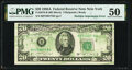 Multiple Note Back to Face Offset Fr. 2076-B $20 1988A Federal Reserve Note. PMG About Uncirculated 50