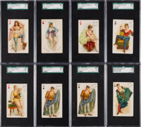 1890's N457 & N458 Playing Cards SGC Graded Collection (14)