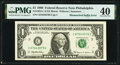 Error Notes:Mismatched Prefix Letters, Mismatched Serial Number Suffix Letter Error Fr. 1924-C $1 1999 Federal Reserve Note. PMG Extremely Fine 40.. ...