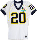 Football Collectibles:Uniforms, 2008 Mike Hart Game Worn Michigan Wolverines Capital One Bowl Jersey....