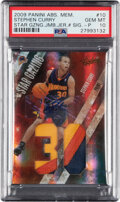 Basketball Cards:Singles (1980-Now), 2009 Panini Absolute Memorabilia Star Gazing Stephen Curry Jumbo Jersey Autograph #10 PSA Gem Mint 10 - Serial Numbered 9/10....