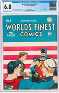 Golden Age (1938-1955):Superhero, World's Finest Comics #6 (DC, 1942) CGC FN 6.0 Cream to off-white pages....