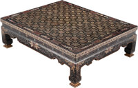 A Chinese Lacquer Low Table 15-1/8 x 50-1/8 x 40 inches (38.4 x 127.3 x 101.6 cm)
