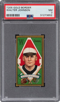 1911 T205 Gold Border Walter Johnson PSA NM 7