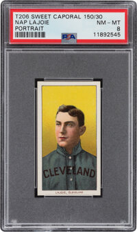 1909-11 T206 Sweet Caporal 150/30 Nap Lajoie (Portrait) SGC NM-MT 8 - Pop One, None Higher for Brand/Series/Factory Comb...
