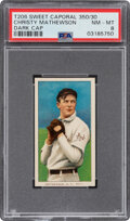 Baseball Cards:Singles (Pre-1930), 1909-11 T206 Sweet Caporal 350/30 Christy Mathewson (Dark Cap) NM-MT 8 - Pop Three, None Higher For Brand/Series/Factory Combo...