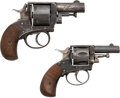 Handguns:Double Action Revolver, Lot of Two Belgian Double Action Bulldog Revolvers.. ... (Total: 2 )