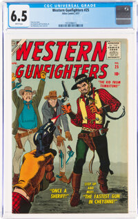 Western Gunfighters #25 (Atlas, 1957) CGC FN+ 6.5 White pages